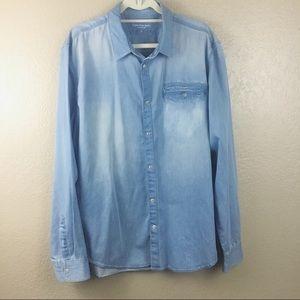 Calvin Klein Button down chambray shirt sz XL